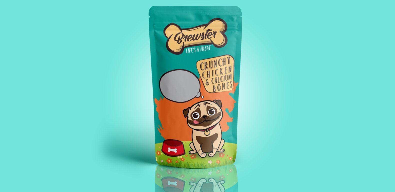 Packaging-Design-Brewster-pet-food-front-