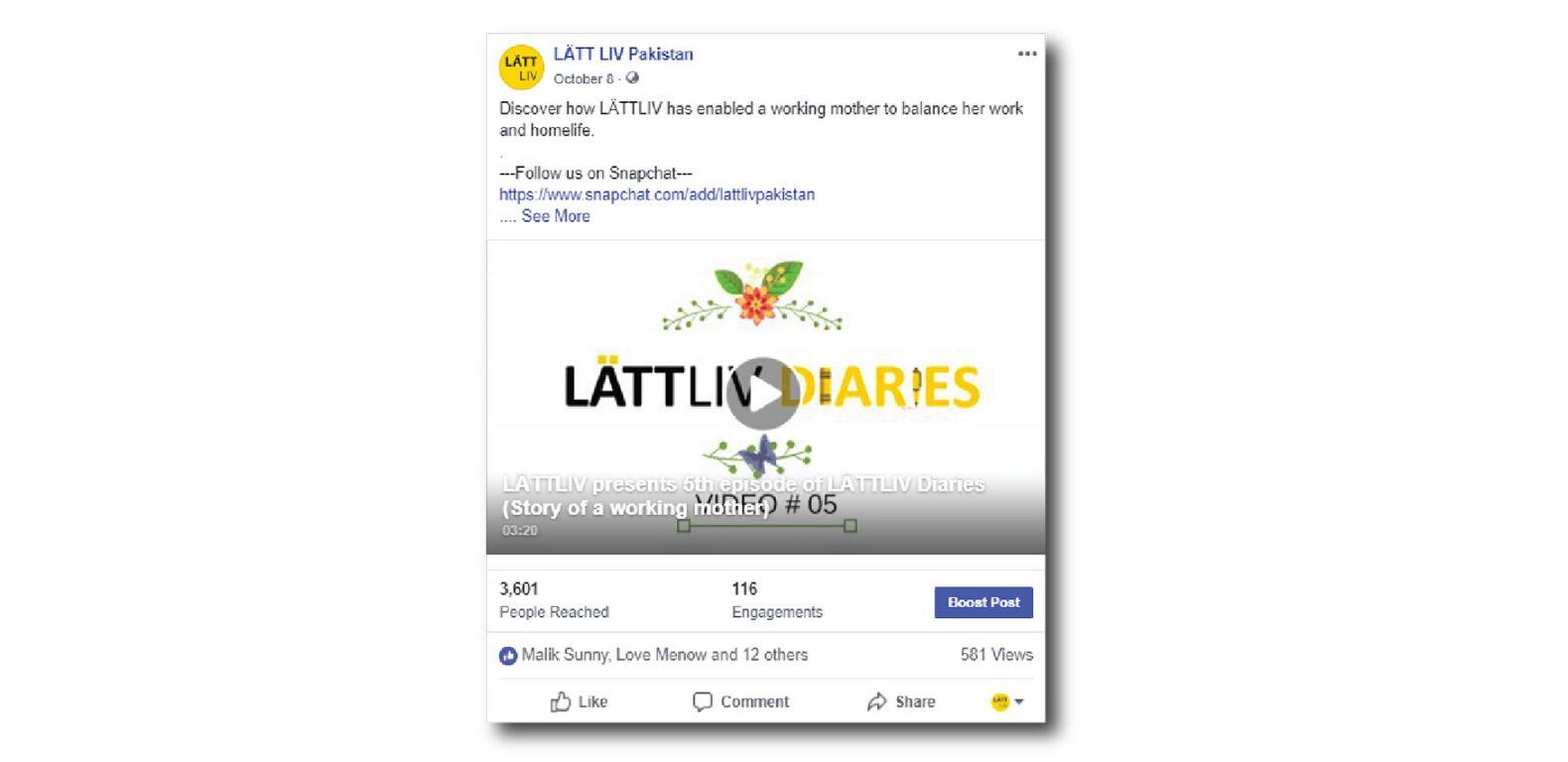 Lattliv-Pakistan-Social-media-marketing-management-Lattliv-Diaries-campaign