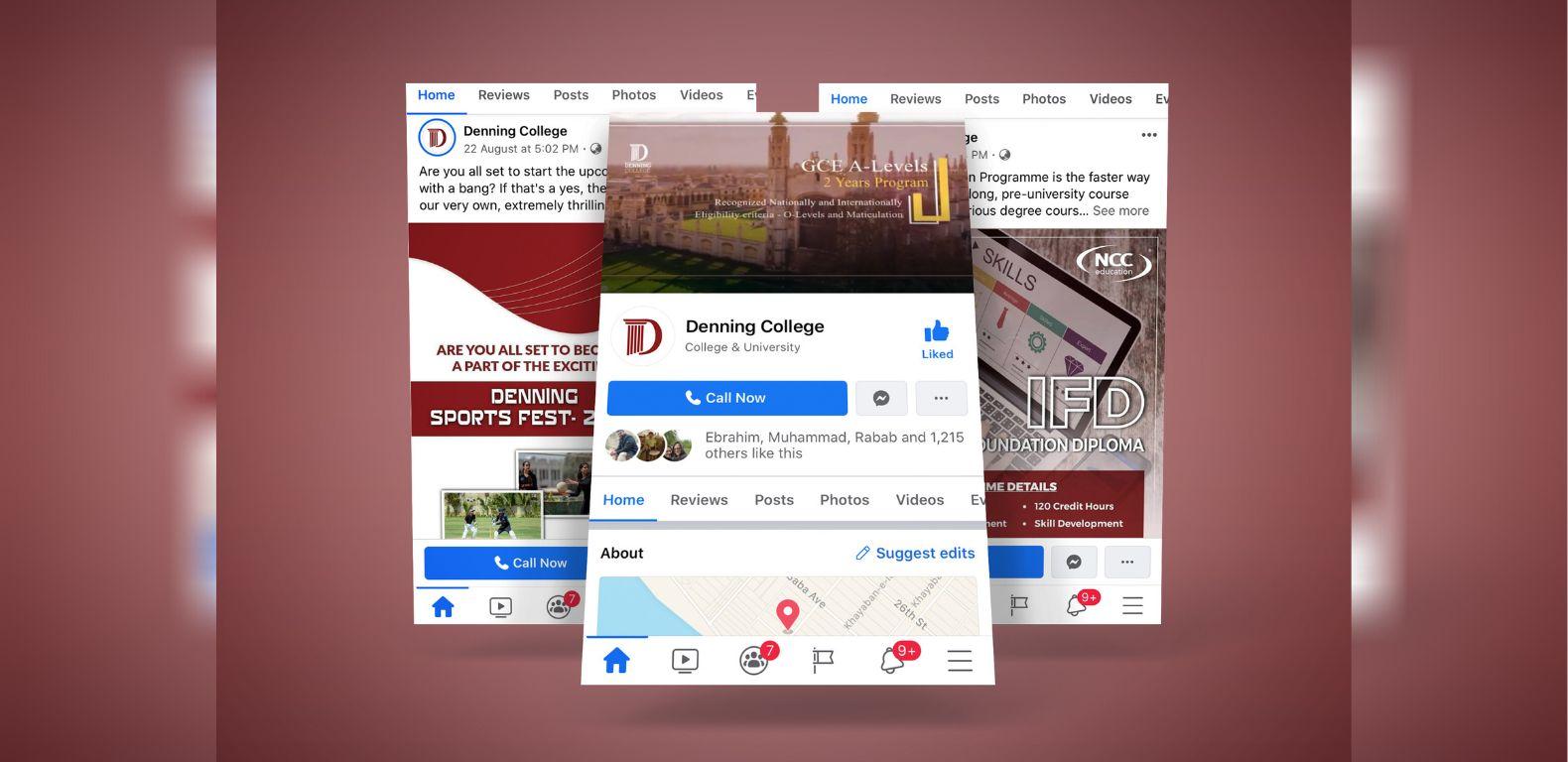 Social-media-marketing-denning-college-Facebook
