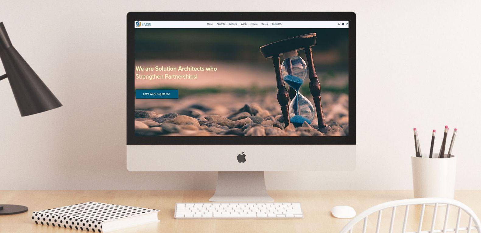 Badri-Consultancy-website-Home-page-design