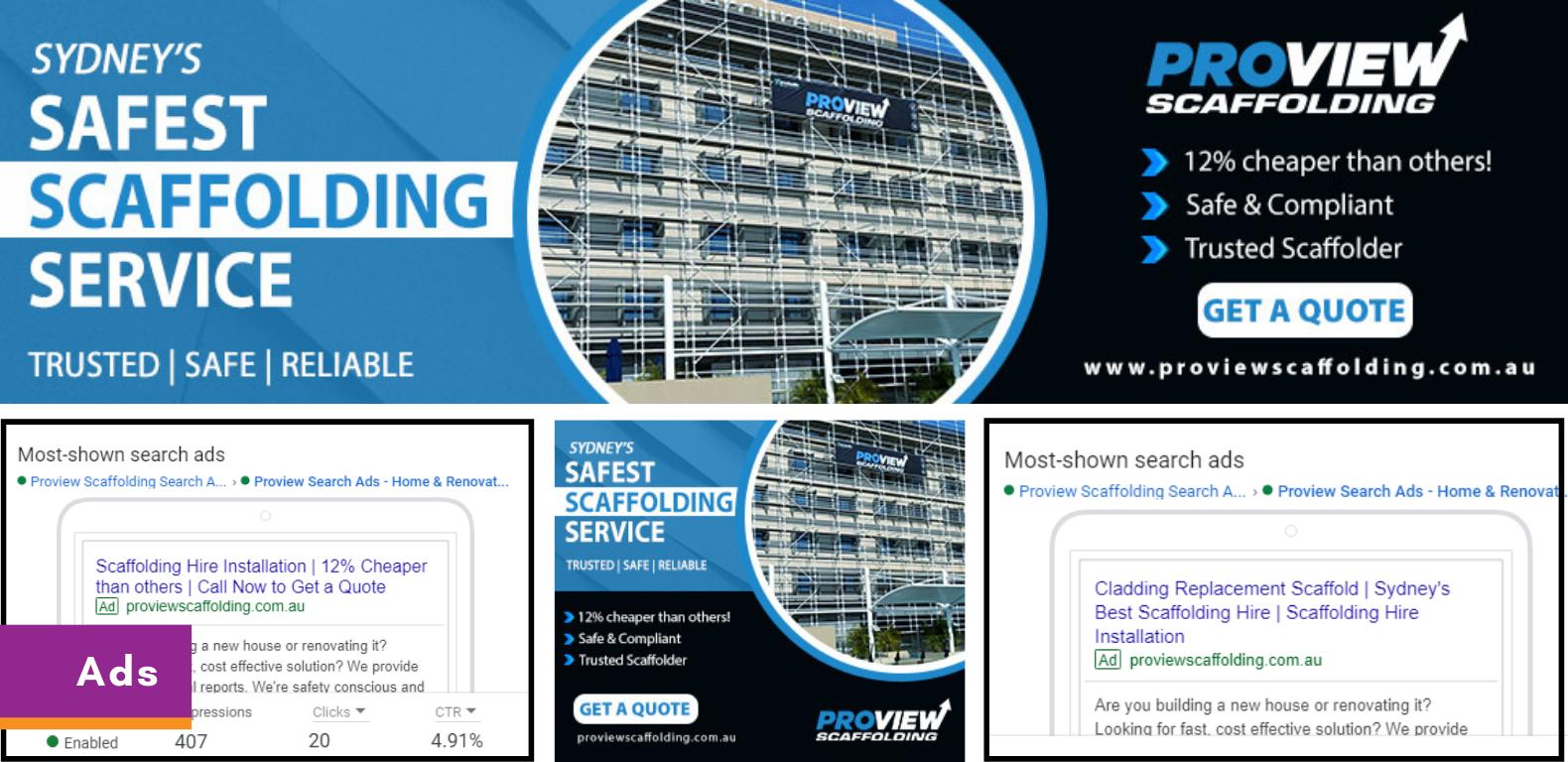 SEM-PPC-Proview-Scaffolding-Australia-Ads