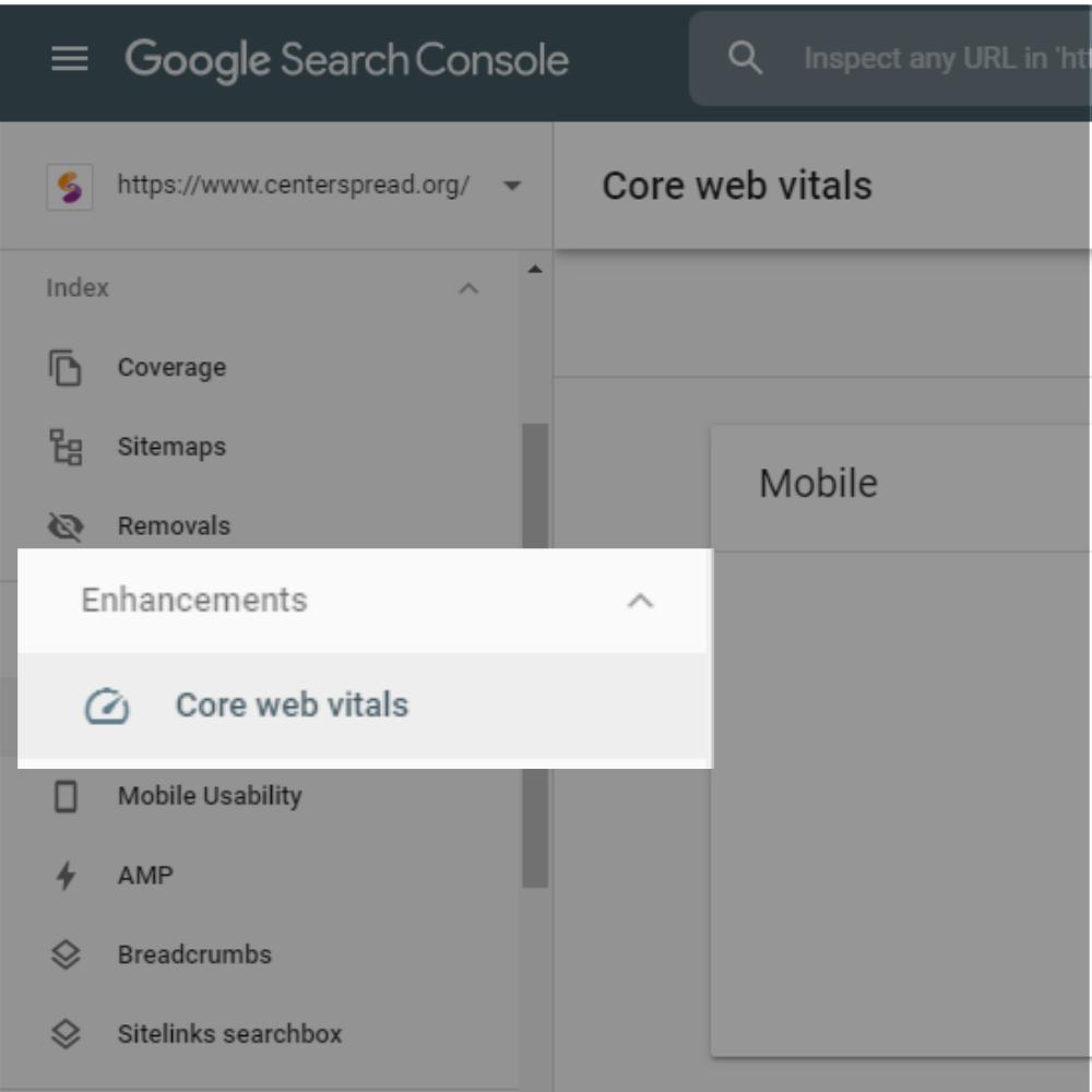 core-web-vitals-google-search-console